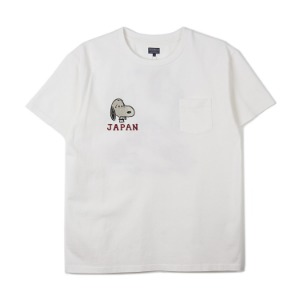 "TAILOR TOYO x PEANUTS S/S Suka T-Shirt Japan Map W/Snoopy ""White"""