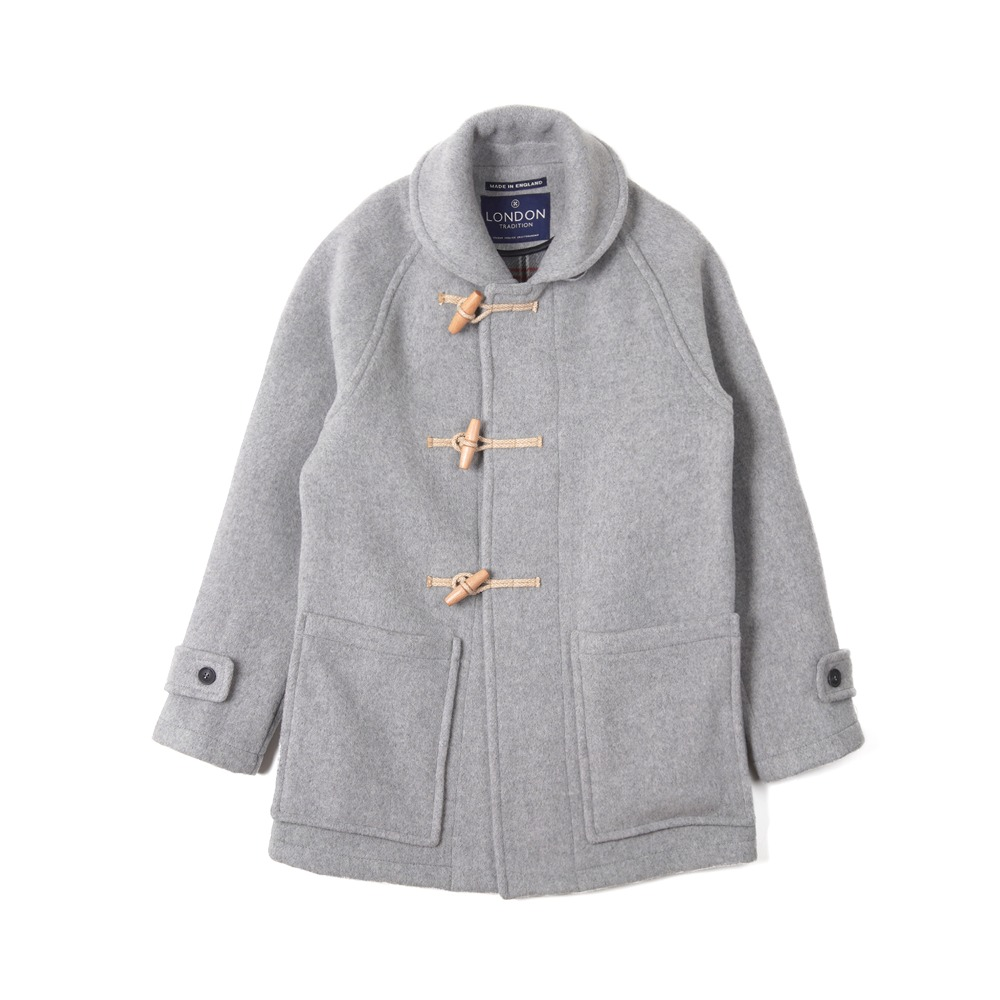 "LONDON TRADITION Edward Mens Duffle Coat ""Pearl Grey"""