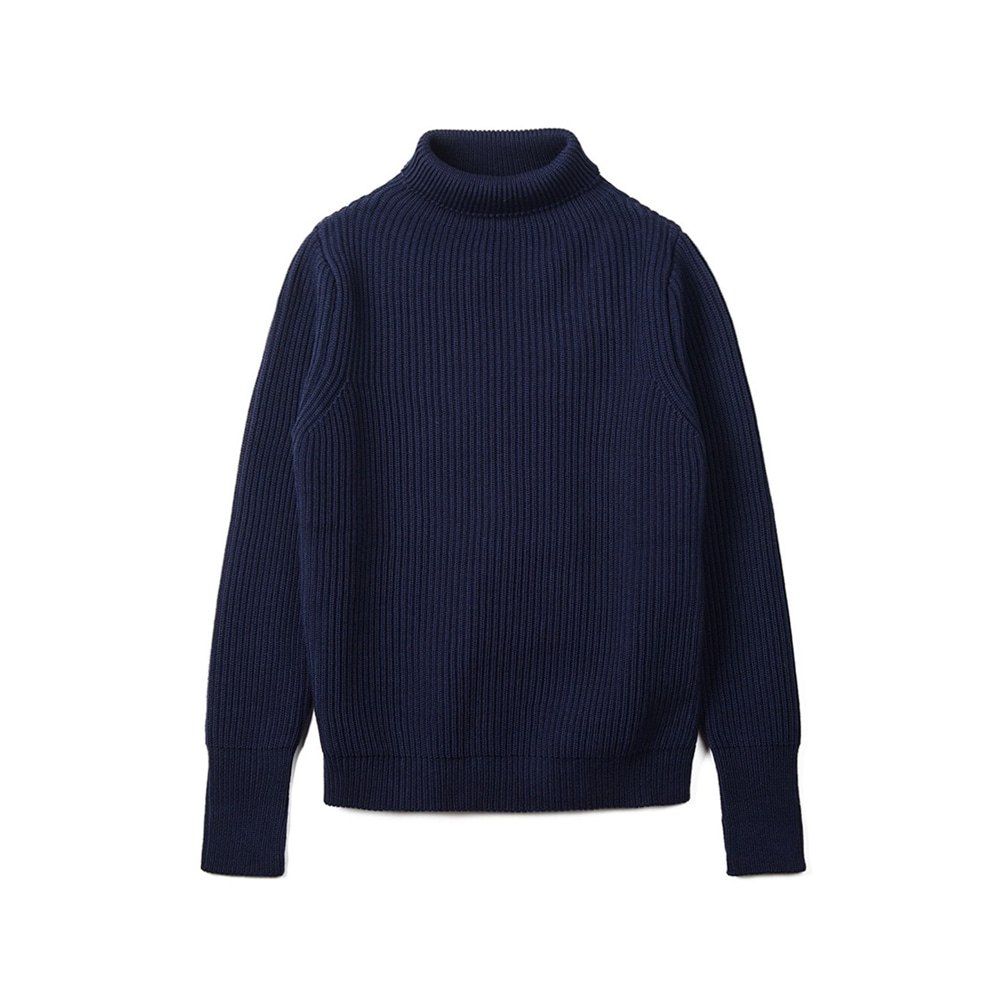 "ANDERSEN-ANDERSEN Navy Turtleneck ""Royal Blue"""