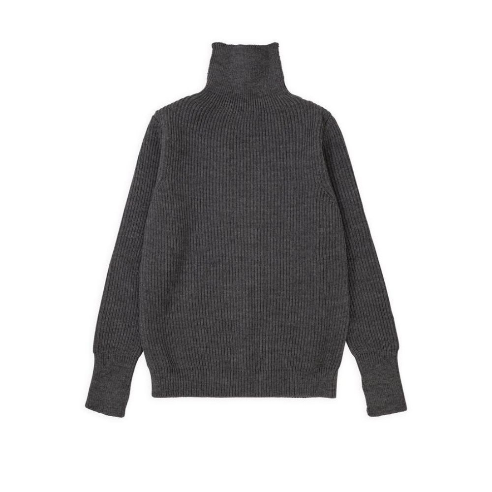 "ANDERSEN-ANDERSEN Navy Turtleneck Symmetrical ""Grey"""