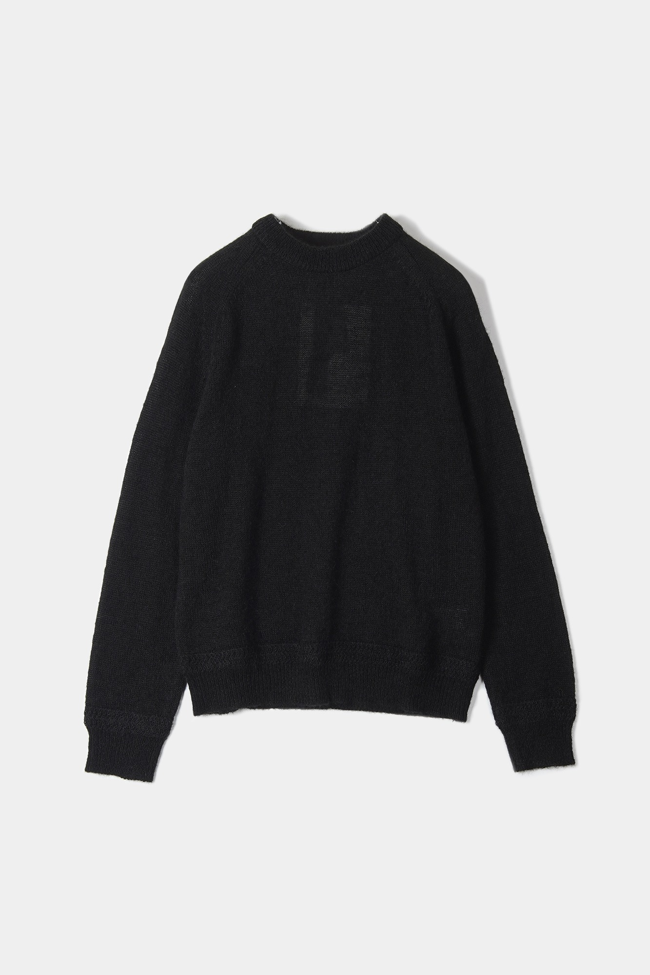 "OOPARTS Mohair boyfriends sweater ""Black"""