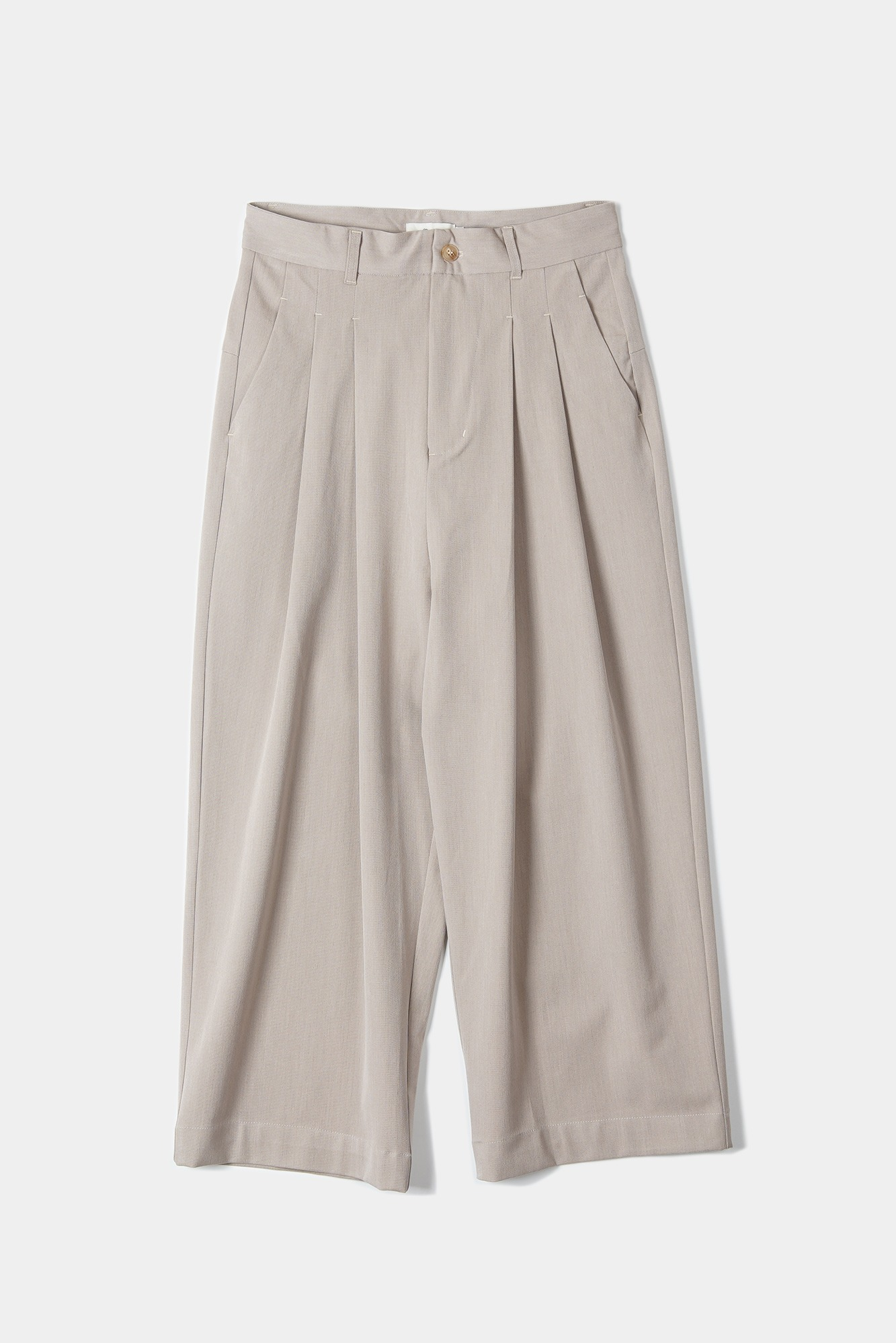 "OOPARTS Wide-leg long pants ""Latte"""