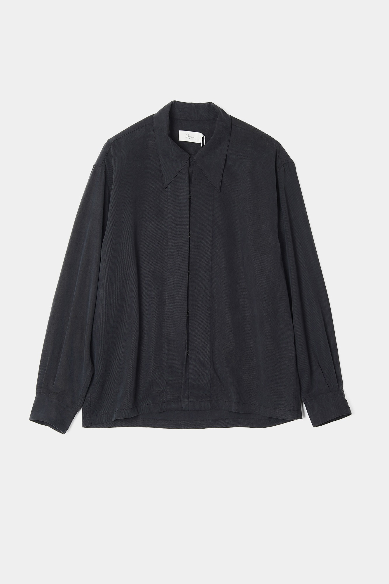 "OOPARTS Open collar tencel shirts ""Cola"""