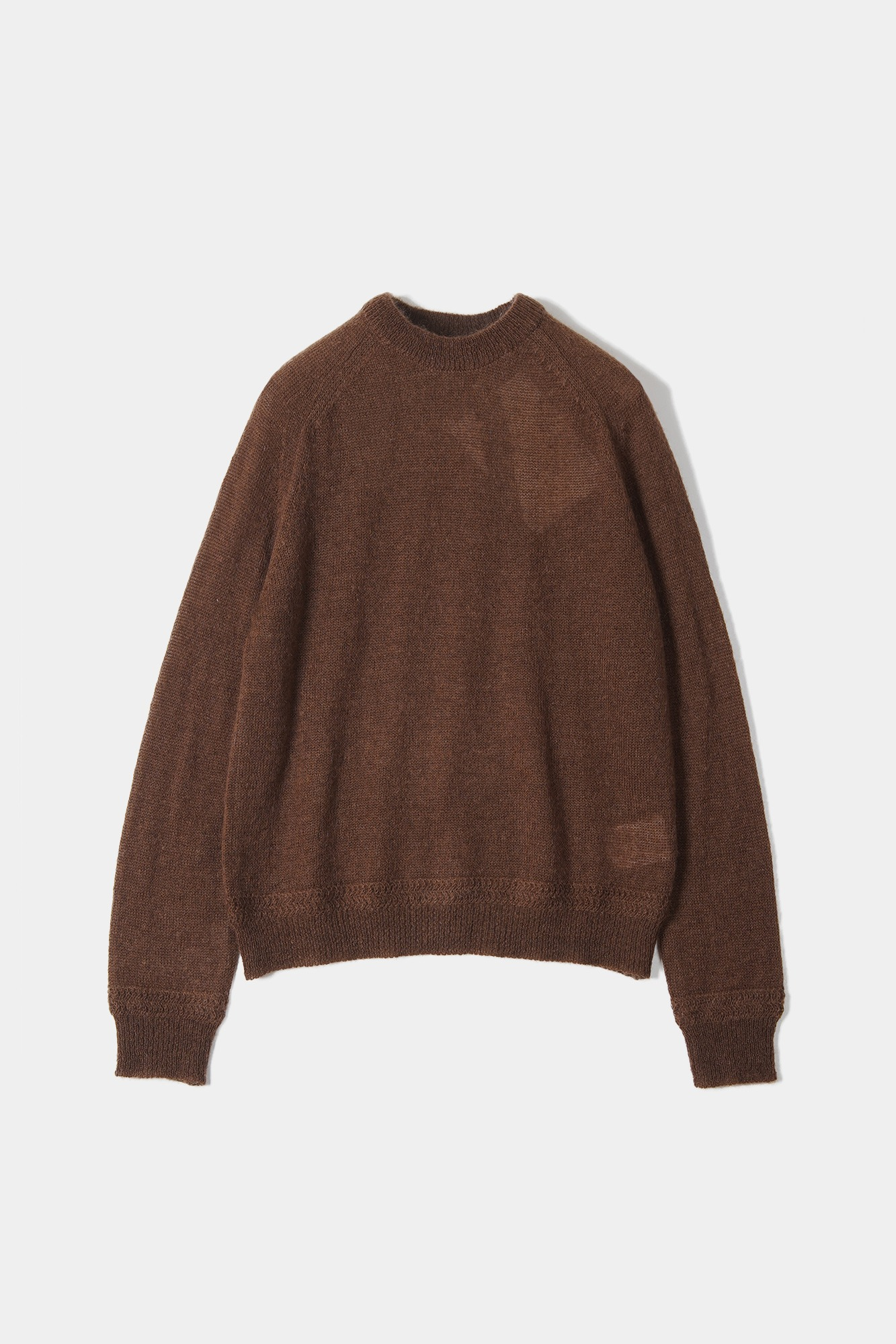 "OOPARTS Mohair boyfriends sweater ""Brownie"""