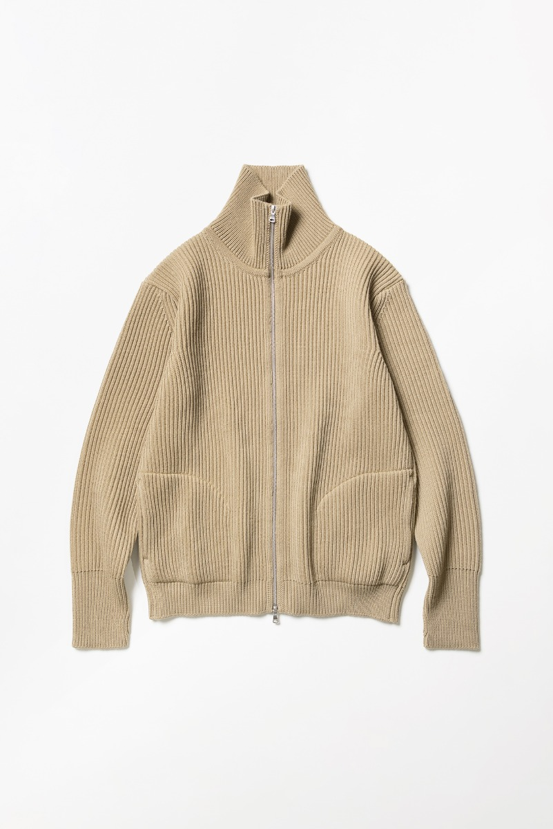 "ANDERSEN-ANDERSEN Navy Full-Zip Up Pockets ""Camel"""