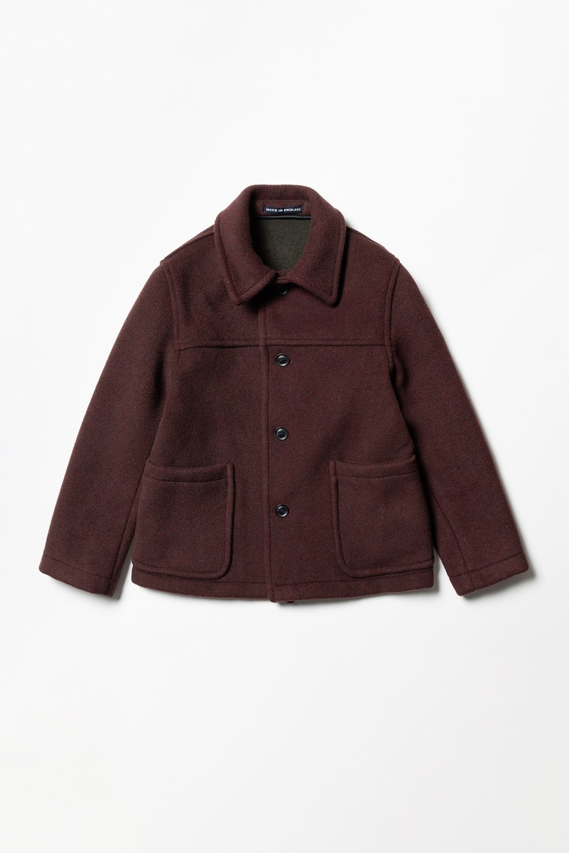 "LONDON TRADITION Jackson Mens Short Jacket ""Wine Mix"""