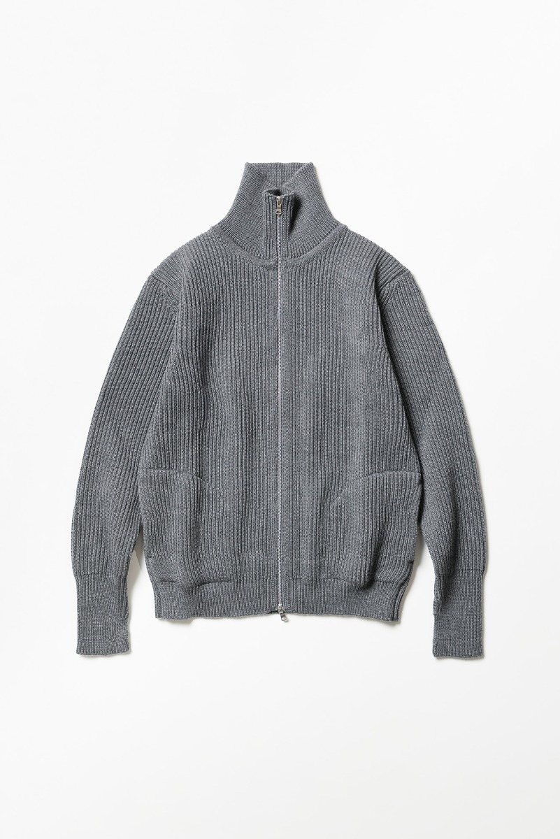 "ANDERSEN-ANDERSEN Navy Full-Zip Up Pockets ""Grey"""