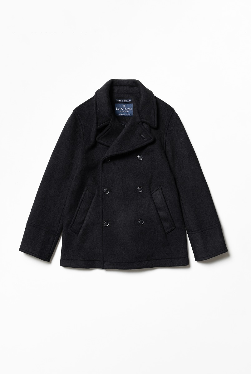 "LONDON TRADITION Scott Mens Peacoat ""Black BW"""