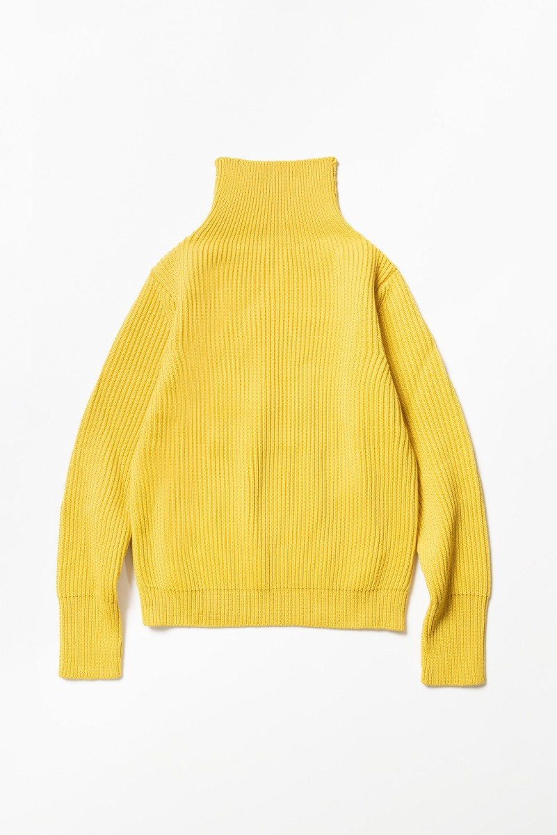 "ANDERSEN-ANDERSEN Navy Turtleneck ""Yellow"""