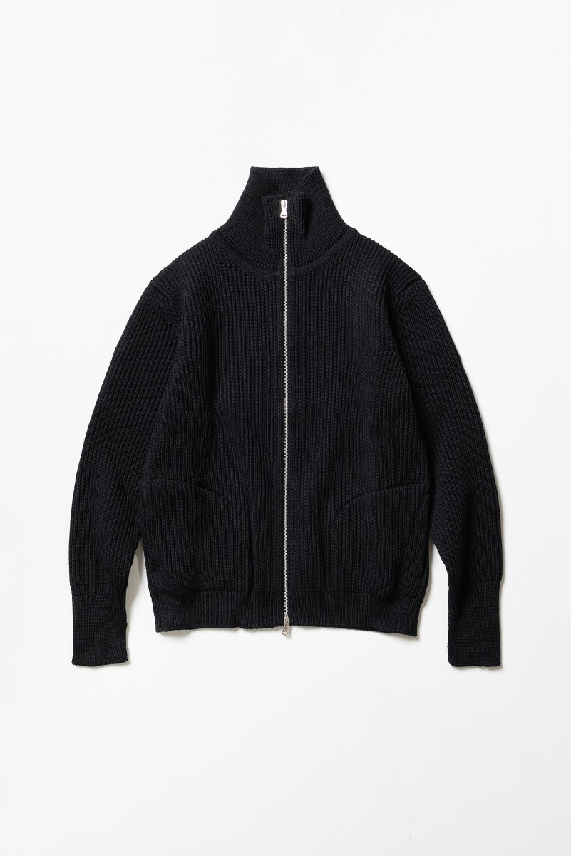 "ANDERSEN-ANDERSEN Navy Full-Zip Up Pockets ""Black"""