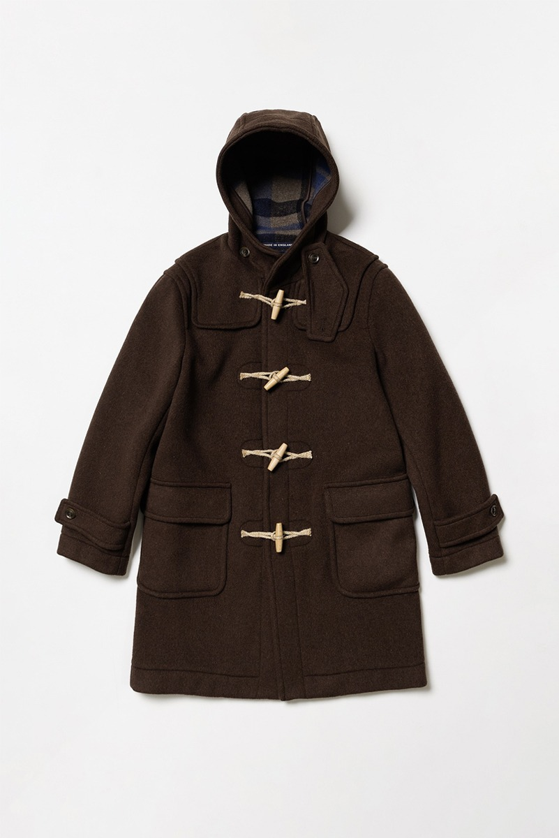 "LONDON TRADITION Mens Erica Duffle Coat ""Hickory"""