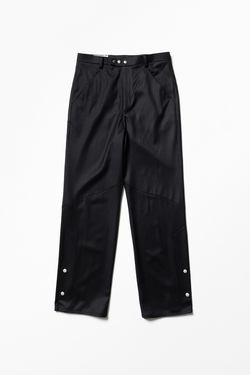 "OOPARTS Hem Vent Snap Pants ""Black"""