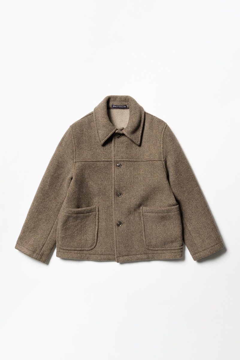 "LONDON TRADITION Jackson Mens Short Jacket ""Dk. Vicuna Mix"""