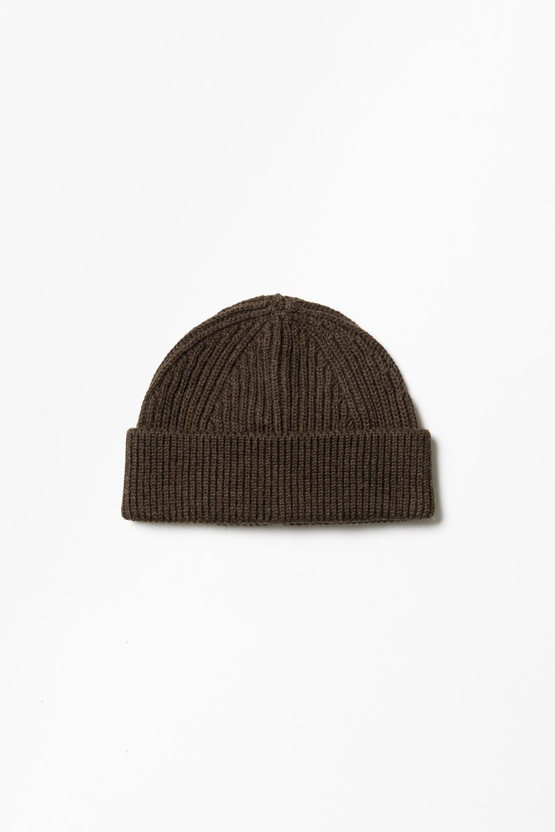 "ANDERSEN-ANDERSEN Short Beanie ""Natural Brown"""