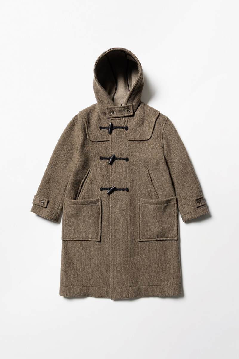 "LONDON TRADITION Winstone Mens Duffle Coat ""Dk. Vicuna Mix"""