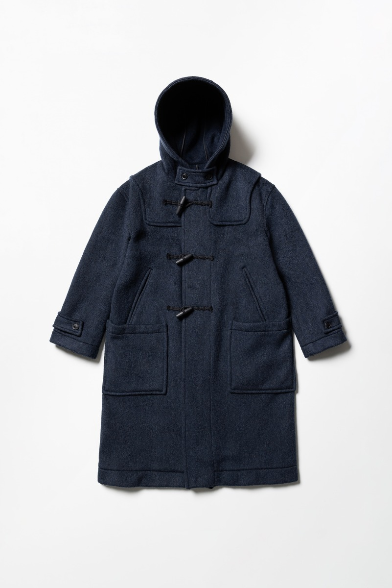 "LONDON TRADITION Winstone Mens Duffle Coat ""Navy Grey Mix"""